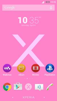 Simple Xperia Logo Theme Pink poster