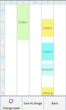 TimeTable Lite apk screenshot