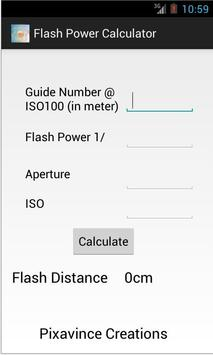 Flash Power Calculator poster