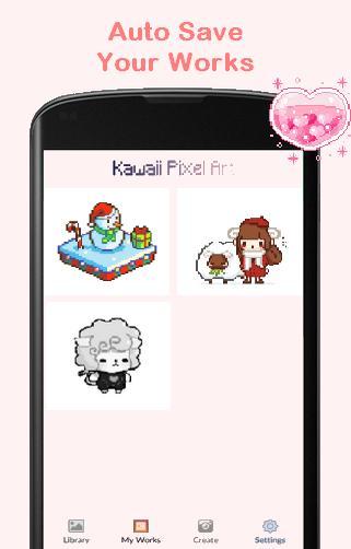 Pixel Art Kawaii Cute Color By Number для андроид