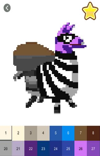 Pixel Art For Fortnite Color By Number Book For Android