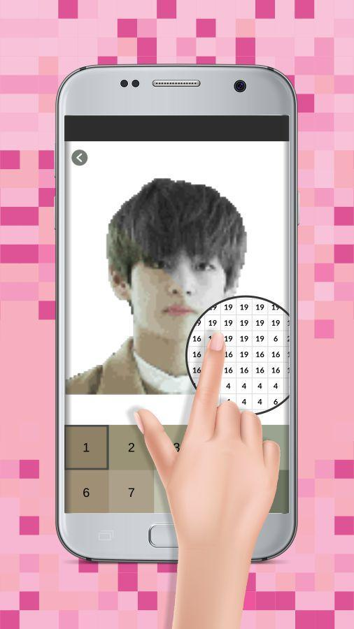 Pixel Art Kpop Pictures Coloring Color By Number For Android Apk