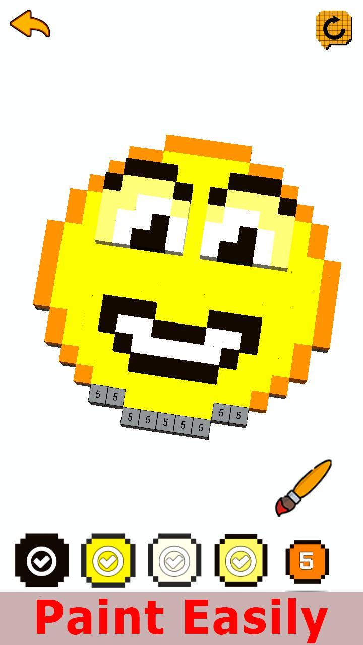 images?q=tbn:ANd9GcQh_l3eQ5xwiPy07kGEXjmjgmBKBRB7H2mRxCGhv1tFWg5c_mWT Pixel Art Easy Emoji @koolgadgetz.com.info