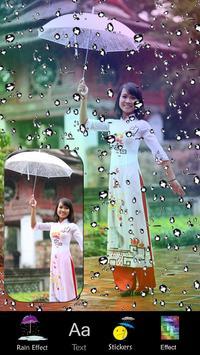 Rain Effect on photo Editor poster