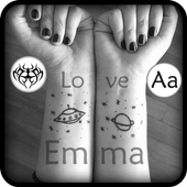 Tattoo My Photos With My Name icon
