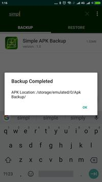 Simple APK Backup Share screenshot 2