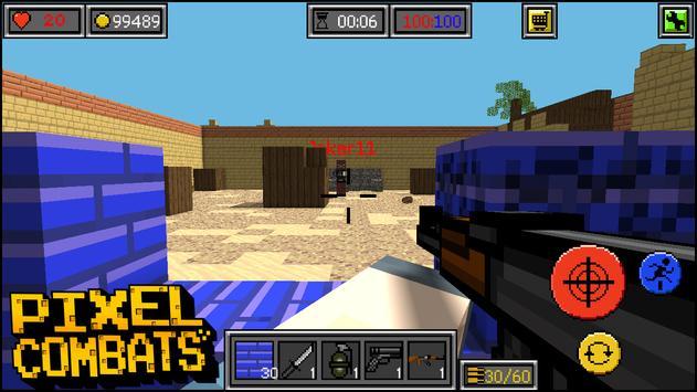 Pixel Combats: guns and blocks apk screenshot