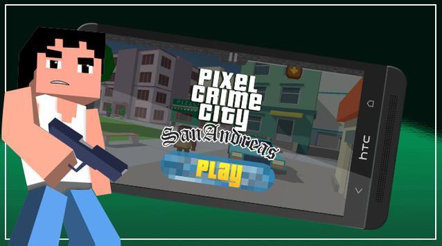 Pixel San Andreas Craft Crime City poster