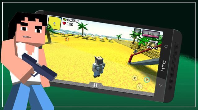 Pixel San Andreas Craft Crime City screenshot 1