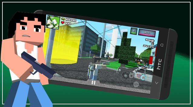 Pixel San Andreas Craft Crime City screenshot 2