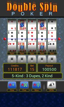 Double Spin Poker apk screenshot