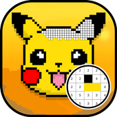 Color by Number Pokemon Pixel Art icon