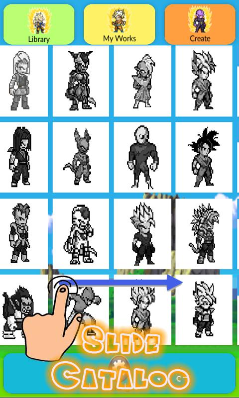 Pixel Art Dbz Paint By Number Bakugan для андроид скачать Apk