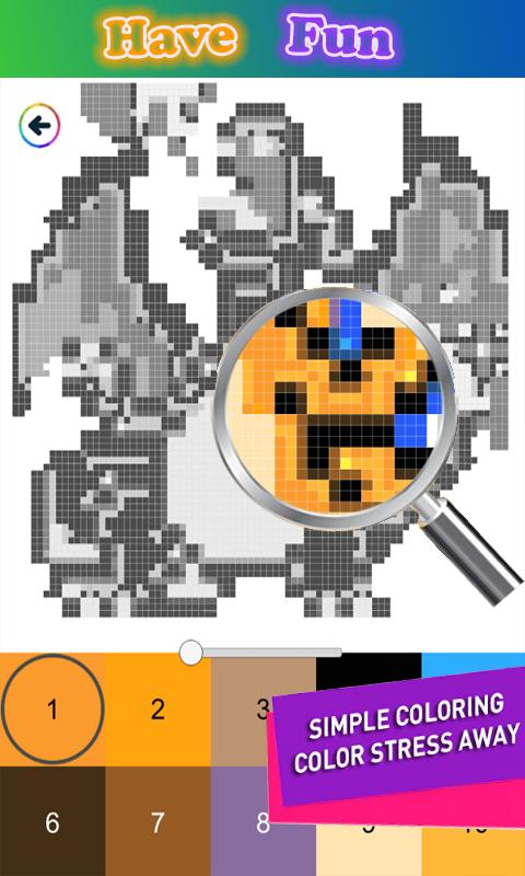 Pixel Art Pikachu Color By Number For Android Apk Download