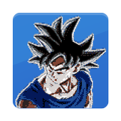 Goku Ultra Color By Number - Pixel Art icon
