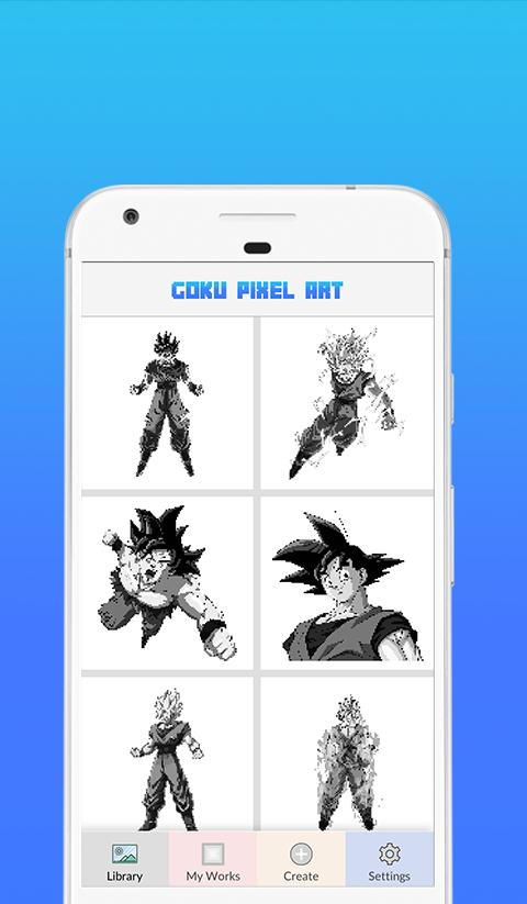 Goku Ultra Color By Number Pixel Art For Android Apk