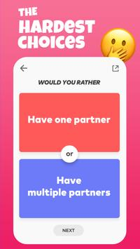Would you rather? - Hardest Choice Game for Party screenshot 1