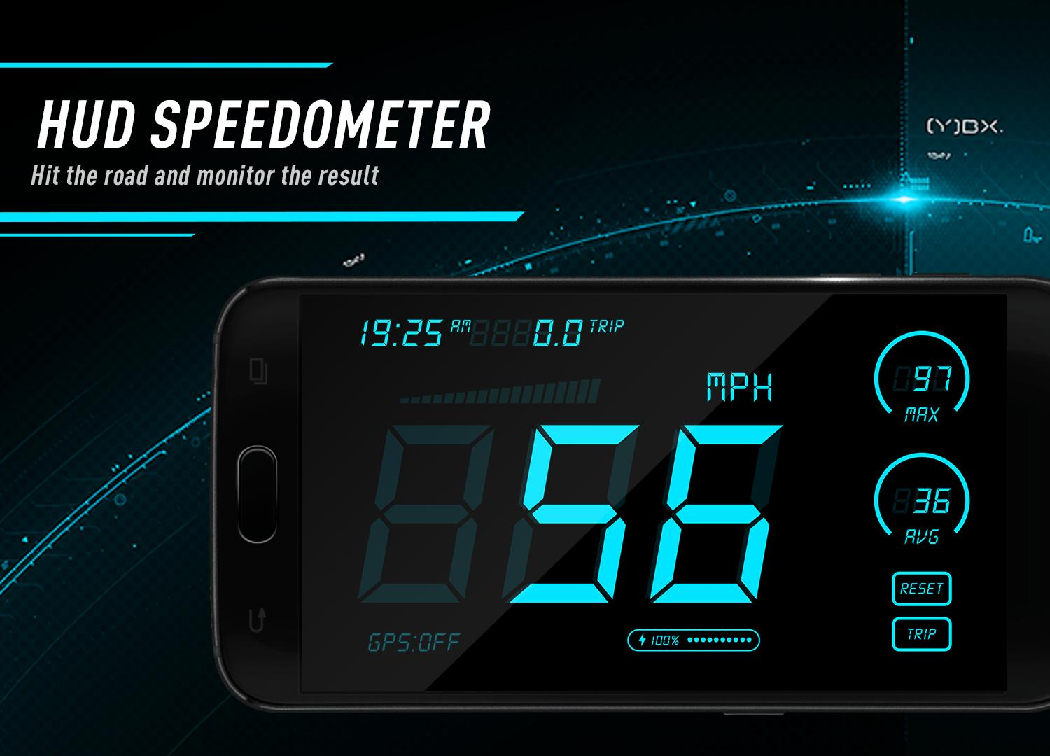 Hud Speedometer - Car Speed Limit App with GPS for Android - APK