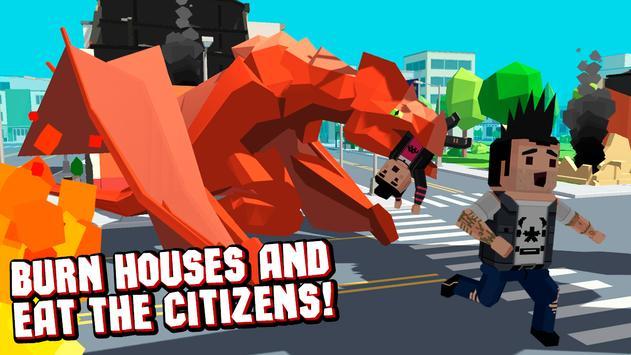 Pixel Dragon Rampage Simulator apk screenshot