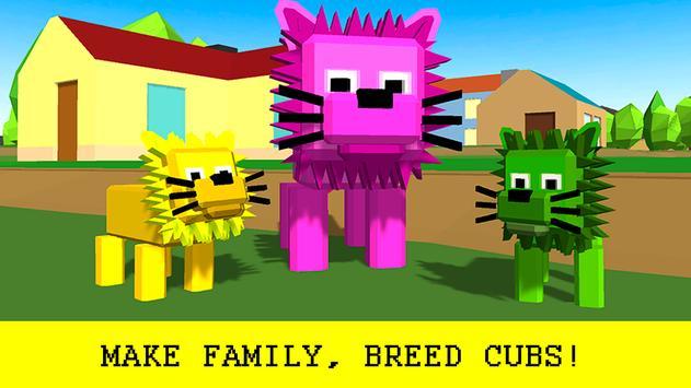 Pixel Lion Survival Simulator apk screenshot
