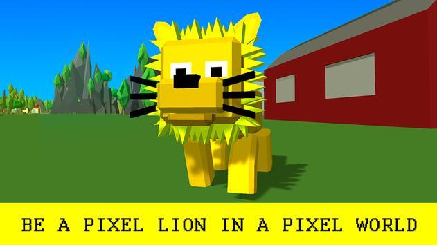 Pixel Lion Survival Simulator poster