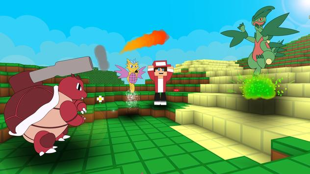 Pixelmon Craft Go: Trainer Battle screenshot 1