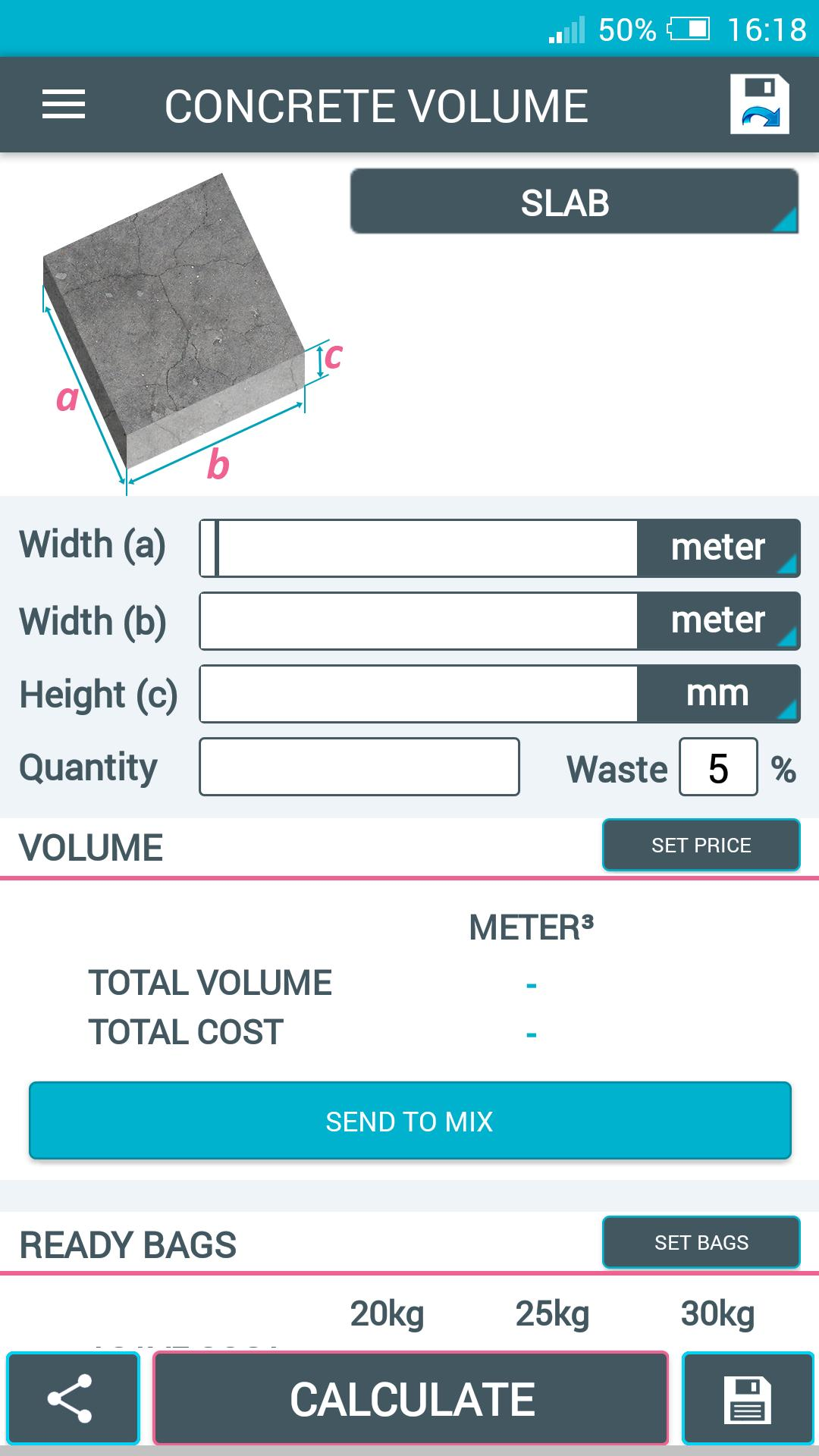 Concrete Calculator for Android - APK Download