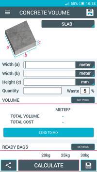 Concrete Calculator screenshot 1