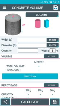 Concrete Calculator screenshot 2