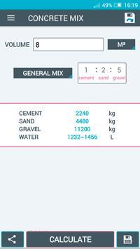 Concrete Calculator screenshot 4