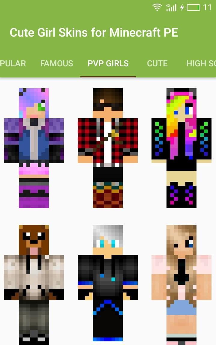 Cute Girl Skins For Minecraft Pe For Android Apk Download