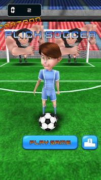 Flick Soccer Shot - Cartoon apk screenshot