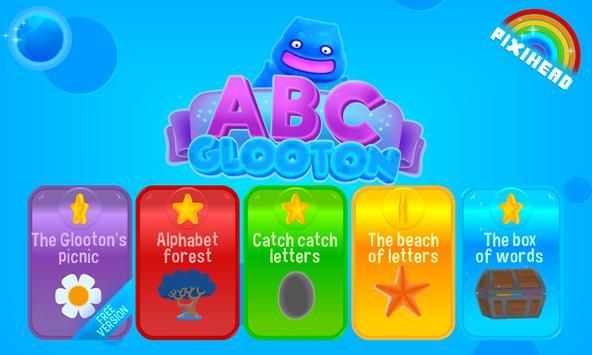 ABC glooton Free preschool app poster