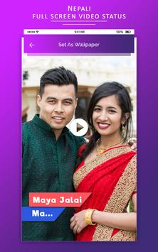 Full screen video status - Nepali Video Status screenshot 1