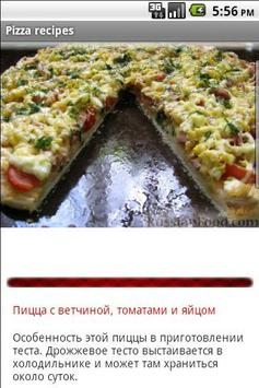 Pizza recipes apk screenshot