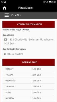 Pizza Magic, Swinton screenshot 2