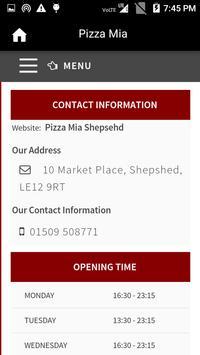 Pizza Mia, Shepshed screenshot 2