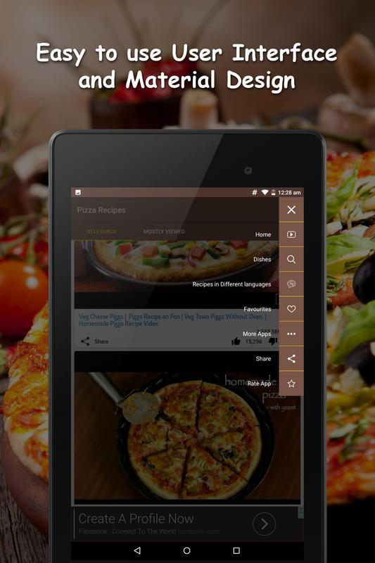 Pizza recipes videos descarga apk gratis comer y beber aplicacin pizza recipes videos captura de pantalla de la apk forumfinder Gallery