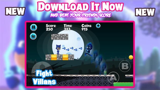 PJ Super Catboy Masks Adventure screenshot 1
