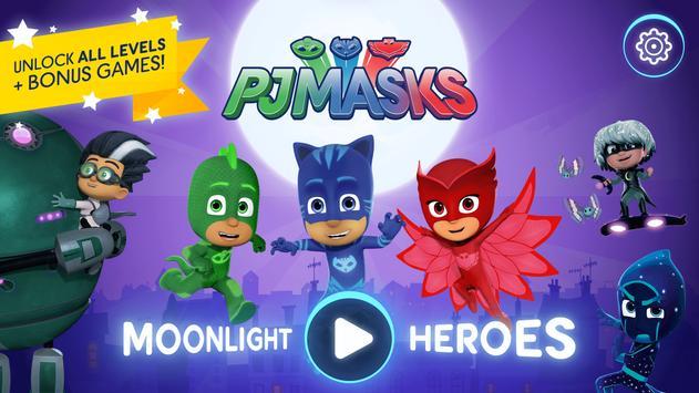 PJ Masks (Heróis de Pijama): Moonlight Heroes Cartaz