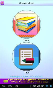QVprep Lite English Grade 1 apk screenshot
