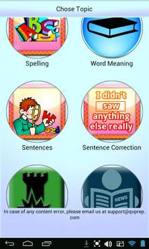 QVprep Lite English Grade 4 apk screenshot