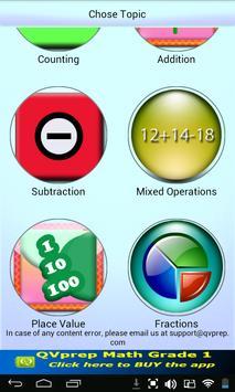 Free QVprep Lite Math Grade 1 apk screenshot