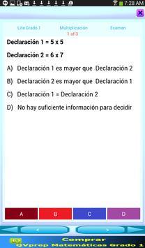 QVprep Lte Matemáticas Grado 1 screenshot 7