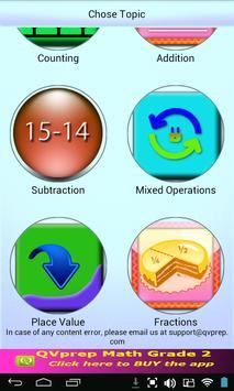 Free QVprep Lite Math Grade 2 poster