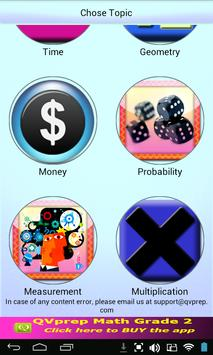 Free QVprep Lite Math Grade 2 screenshot 1
