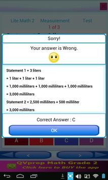 Free QVprep Lite Math Grade 2 screenshot 23