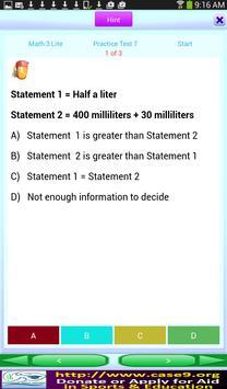 Math Grade 3 Practice Tests apk screenshot