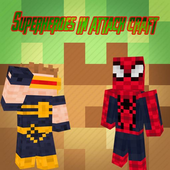 Superheroes in attack craft icon