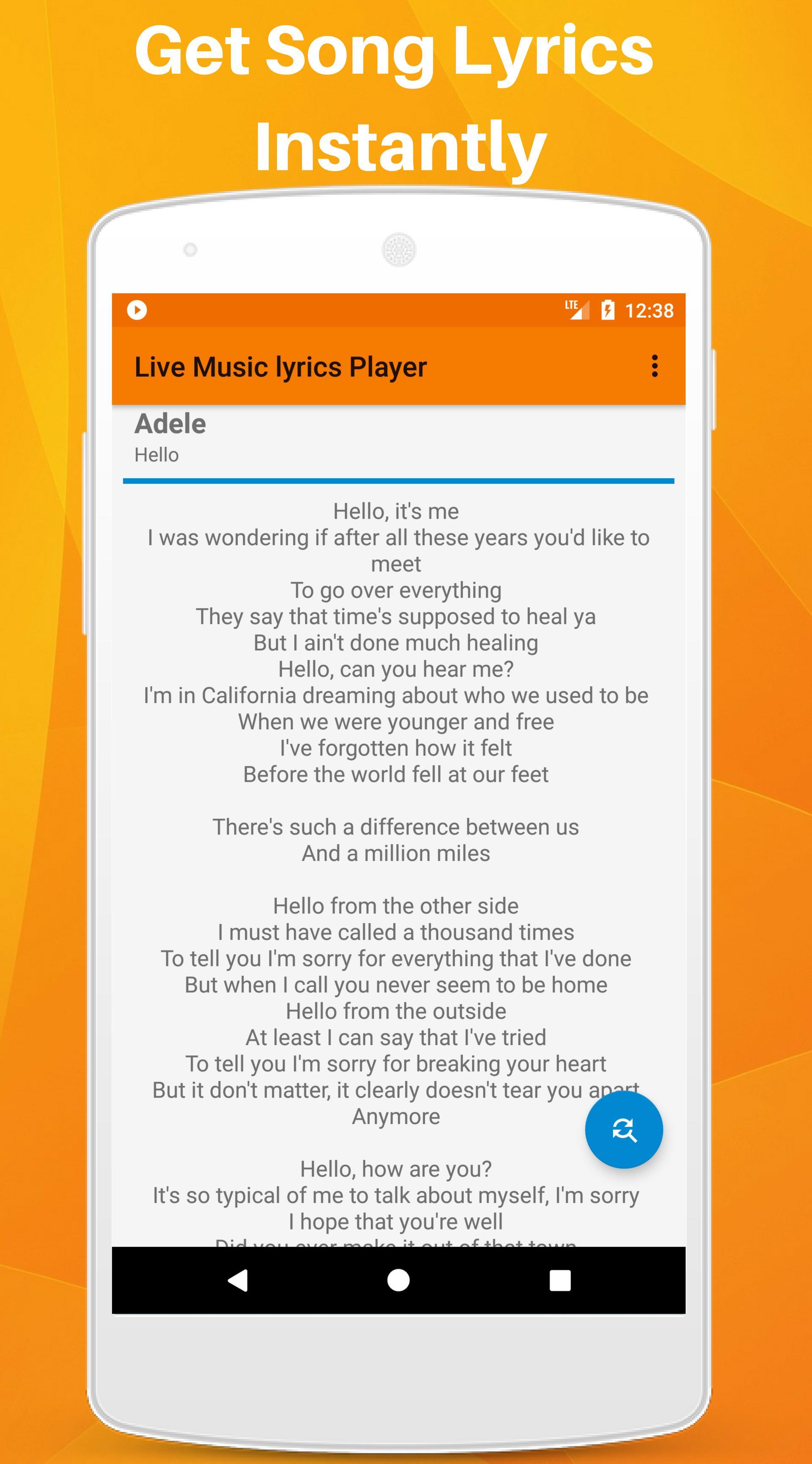Live Music Lyrics Player,Find lyrics,offline lyric for